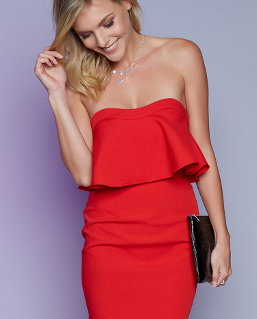 Fashion Shop - Valerie Party Dress Red