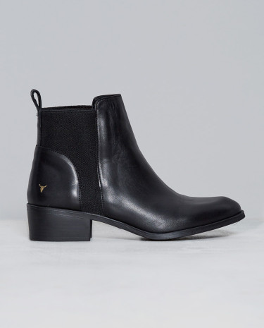 Fashion Shop - Windsor Smith Metz Boots Black Leather
