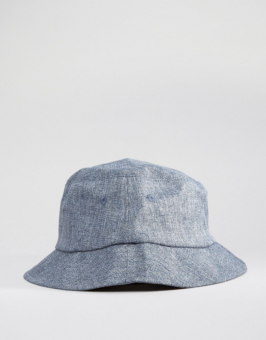 c7e8c962331 Fashion Shop New Look Bucket Hat In Blue Chambray - Navy Fashion Shop