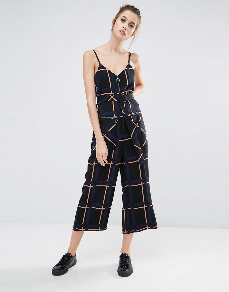 76c830024ed8 Fashion Shop Sportmax Code Zitto Check Jumpsuit - Multi Fashion Shop