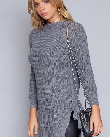 Fashion Shop - Cardinal Jumper Dress Grey