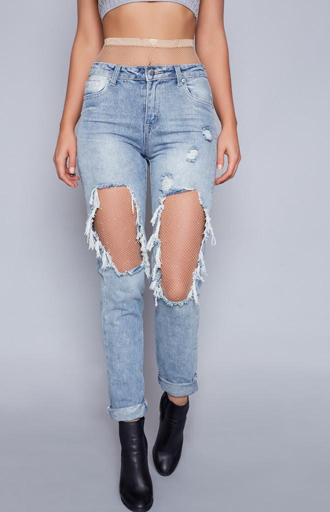 Fashion Shop - Lemonade Diamonte Stockings Nude