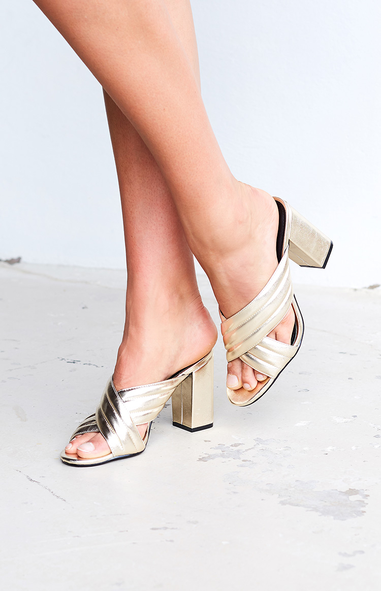 Fashion Shop - Therapy Triola Mules Metallic Gold