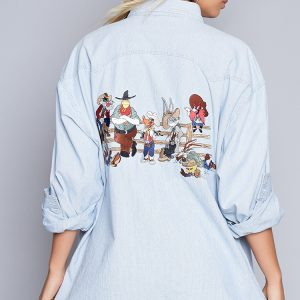 Fashion Shop - Vintage Looney Town Wild West Shirt Jacket
