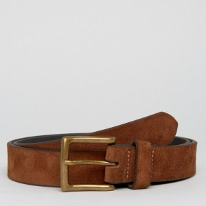 Fashion Shop - ASOS Wide Suede Belt In Tan - Tan