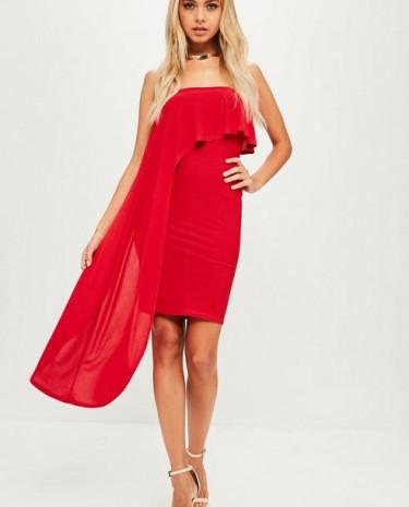 Fashion Shop - One Shoulder Frill Dress