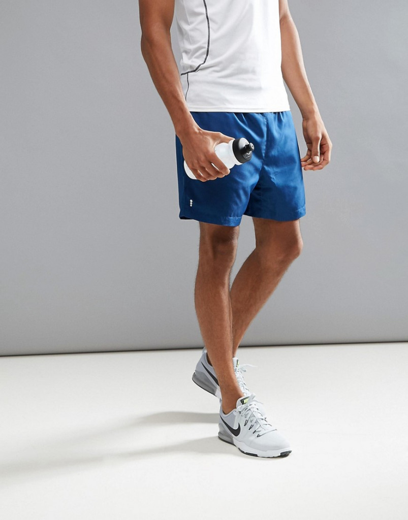 Fashion Shop - New Look SPORT Shorts In Navy - Blue