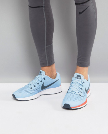 Fashion Shop - Nike Running Air Zoom Pegasus 34 Sneakers In Blue 880555-404 - Blue