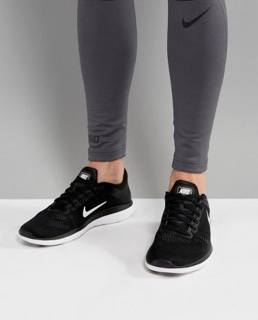 Fashion Shop - Nike Running Flex 2016 RN Sneakers In Black 830369-001 - Black