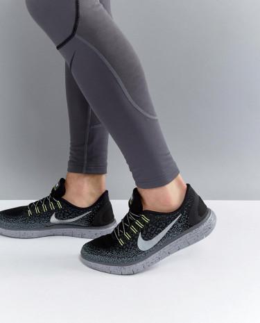 Fashion Shop - Nike Running Free Run Distance Shield Sneakers In Grey 849660-001 - Grey