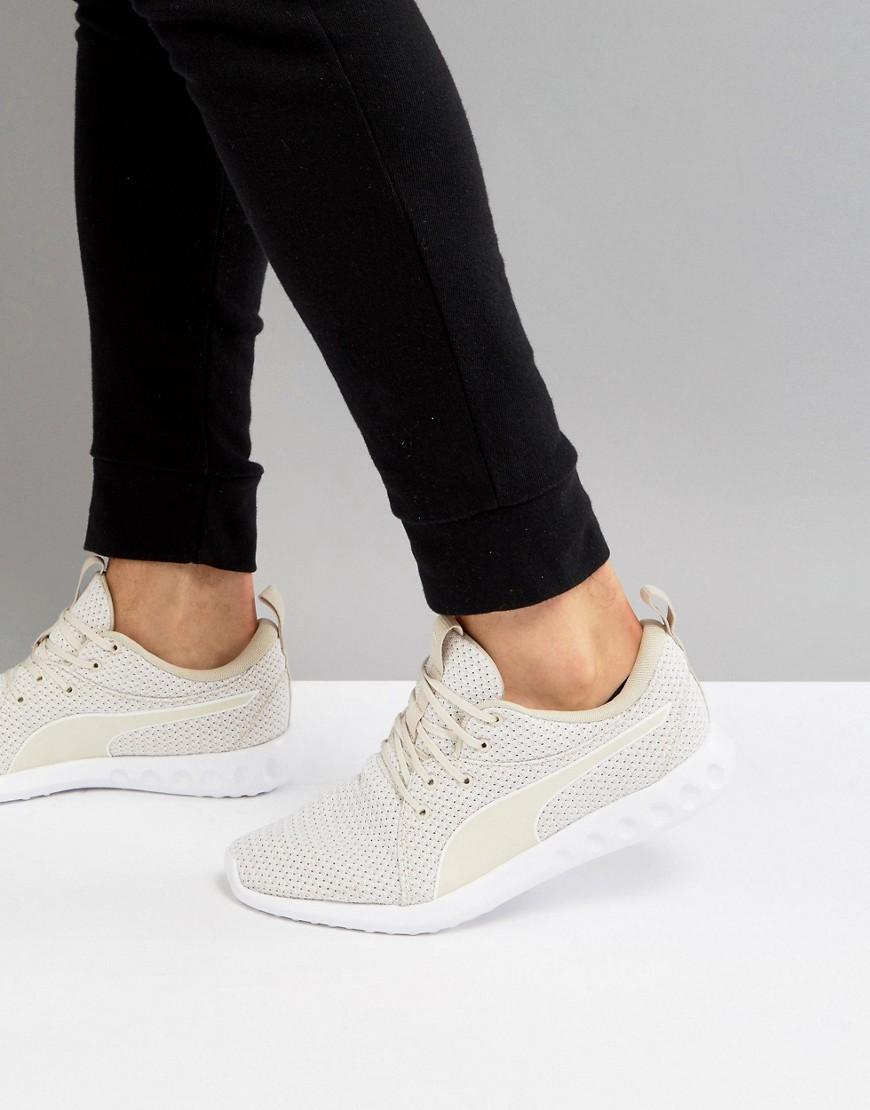 Fashion Shop - Puma Running Carson 2 Knit Sneakers In Beige 19003904 - Beige