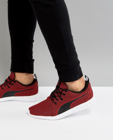 Fashion Shop - Puma Running Carson 2 Knit Sneakers In Burgundy 19003902 - Red