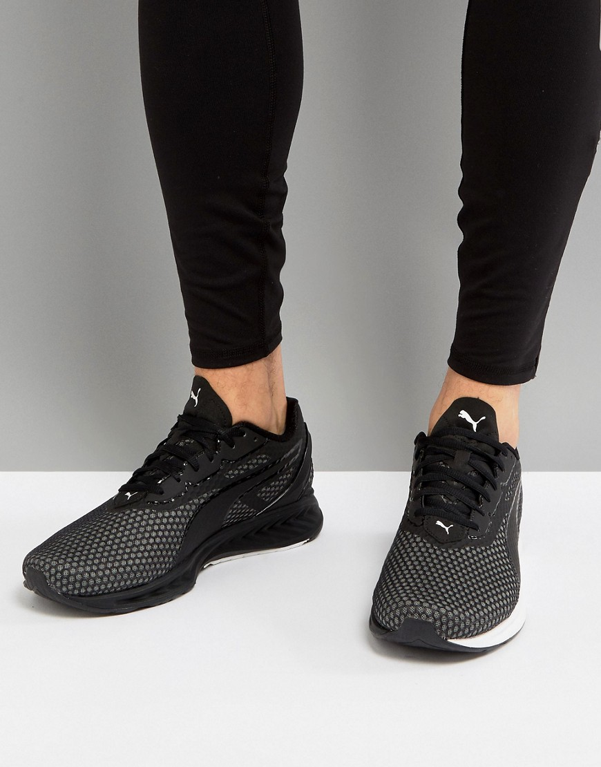 Fashion Shop - Puma Running Ignite 3 Sneakers In Black 18944905 - Black