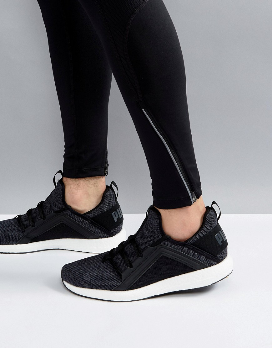 Fashion Shop - Puma Running Mega NRGY Knit Sneakers In Black 19037101 - Black