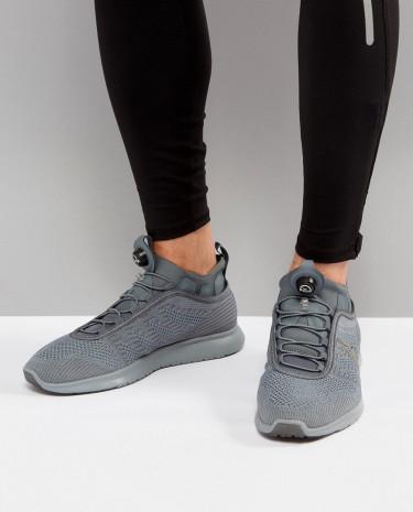 Fashion Shop - Reebok Running Pump Plus Running Sneakers In Grey BS8562 - Grey