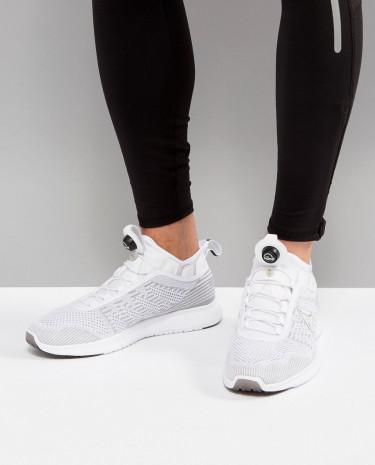 Fashion Shop - Reebok Running Pump Plus Running Sneakers In White BS8561 - White