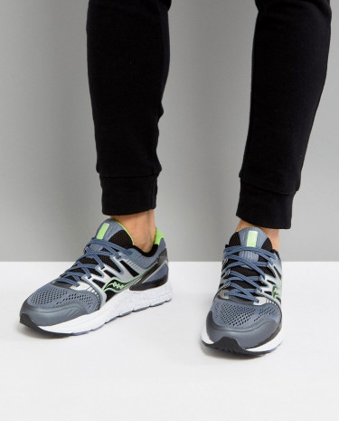 Fashion Shop - Saucony Running Redeemer ISO Sneakers In Grey S20381-3 - Grey