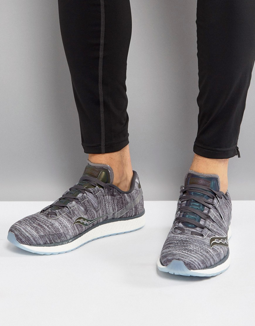 Fashion Shop - Saucony Running Runlife Chromaflex Freedom ISO Sneakers In Grey S20355-20 - Grey
