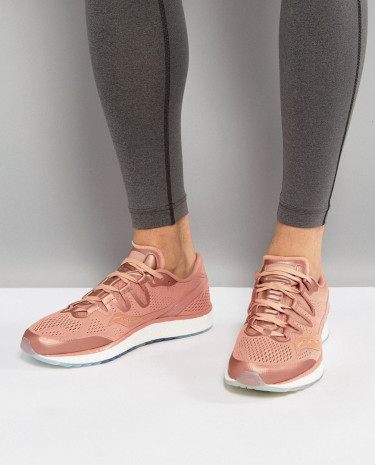 Fashion Shop - Saucony Running Runlife Freedom ISO Sneakers In Pink S20355-52 - Pink