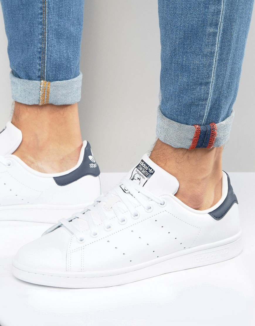 adidas Originals Stan Smith Leather Sneakers In White M20325 White