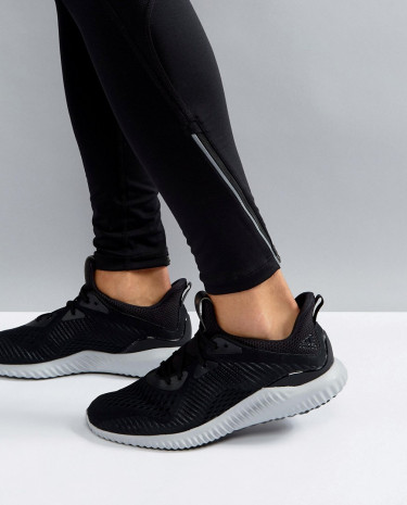 Fashion Shop - adidas Running Alphabounce Sneakers In Black BY4264 - Black