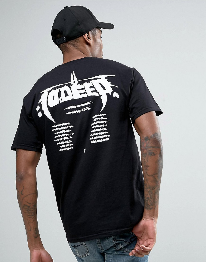 Fashion Shop - 10 Deep T-Shirt With Tour Back Print - Black