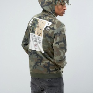 Fashion Shop - 10.Deep Camo Hoodie With Back Patch - Green
