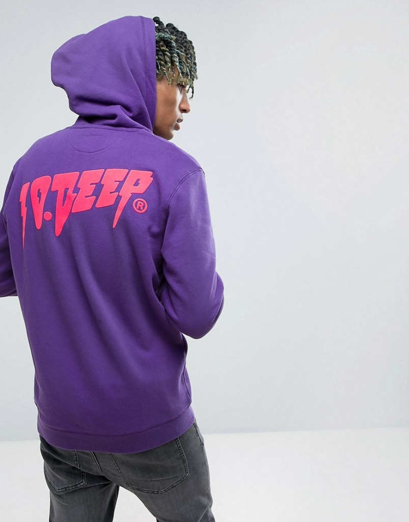 Fashion Shop - 10.Deep Hoodie With Back Logo - Purple