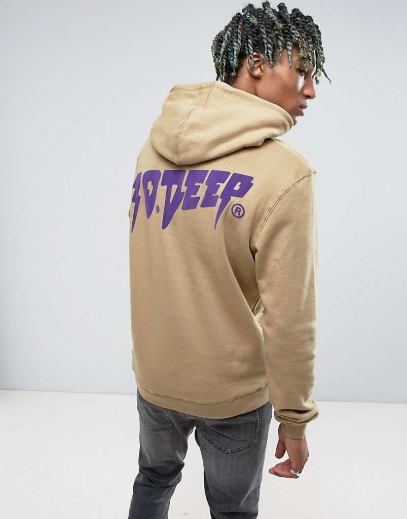 Fashion Shop - 10.Deep Hoodie With Back Logo - Stone
