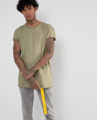 Fashion Shop - Brooklyns Own T-Shirt In Khaki Oil Wash - Green