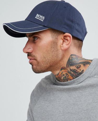 Fashion Shop - BOSS Athleisure Small Logo Cap in Navy - Navy