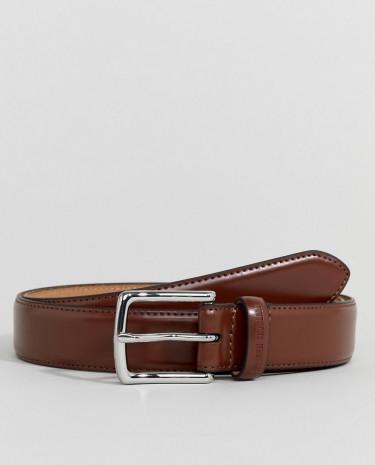 Fashion Shop - Ben Sherman Skinny Leather Belt Tan - Tan