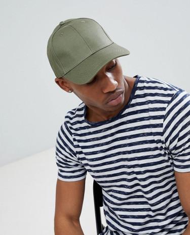 Fashion Shop - Brave Soul Baseball Cap In Khaki - Green