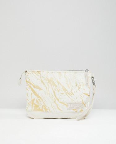 Fashion Shop - Eastpak Isabella Superb White Marble Padded Tablet Case - White