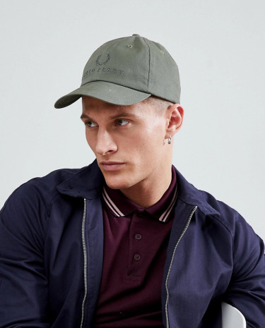 Fashion Shop - Fred Perry Tonal Tennis Cap in Green - Green
