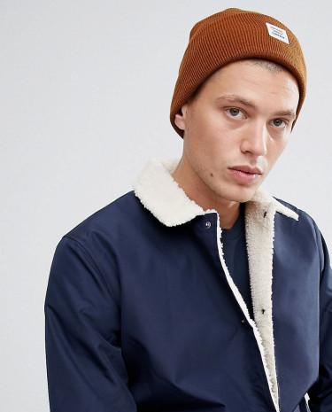 Fashion Shop - Herschel Supply Co Abbott Cuffed Beanie - Brown