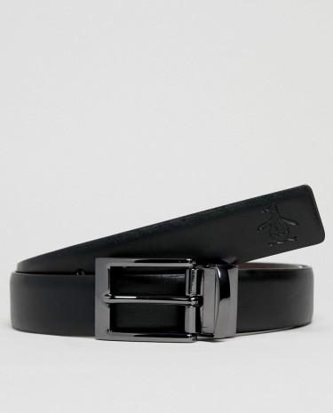 Fashion Shop - Original Penguin Reversible Belt - Black