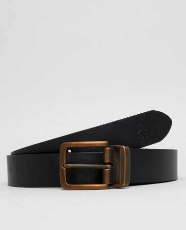 Fashion Shop - Original Penguin Vegan Reversible Belt - Black