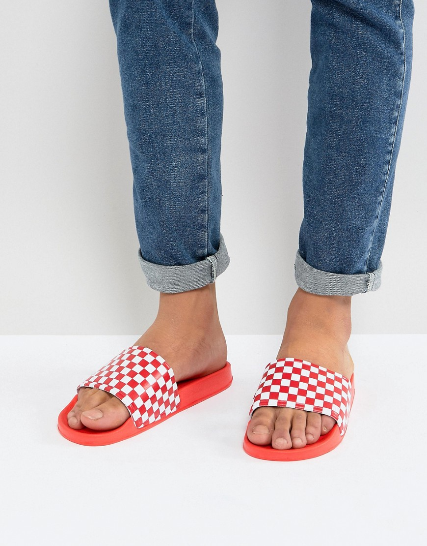 Fashion Shop - 7x Checkerboard Sliders In Red - Red