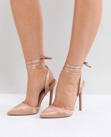 Fashion Shop - ASOS PIED PIPER Wide Fit High Heels - Beige