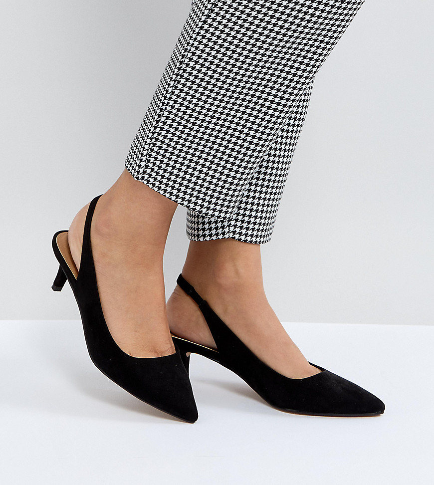 Fashion Shop - ASOS SPIRIT Slingback Kitten Heels - Black