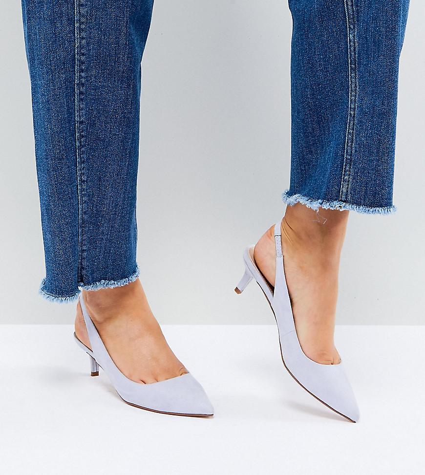 Fashion Shop - ASOS SPIRIT Slingback Kitten Heels - Blue
