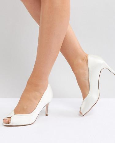 Fashion Shop - ASOS SUMMER Wide Fit Mid Heels Bridal - Cream