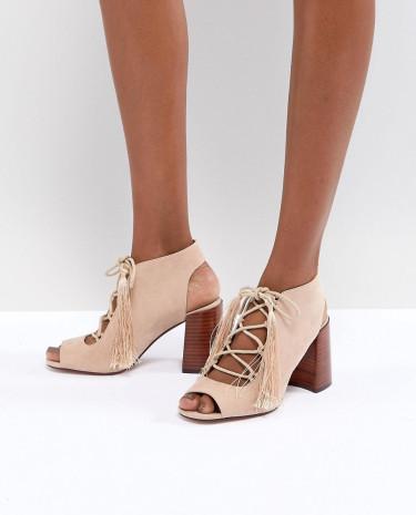 Fashion Shop - ASOS TONIC Lace Up Heeled Sandals - Pink