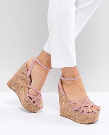 Fashion Shop - ASOS TULITA Wide Fit High Wedges - Pink