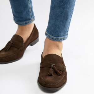 Fashion Shop - Ben Sherman Loafers Tassel Loafers In Brown Suede - Brown