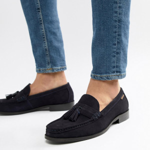 Fashion Shop - Ben Sherman Loafers Tassel Loafers In Navy Suede - Blue