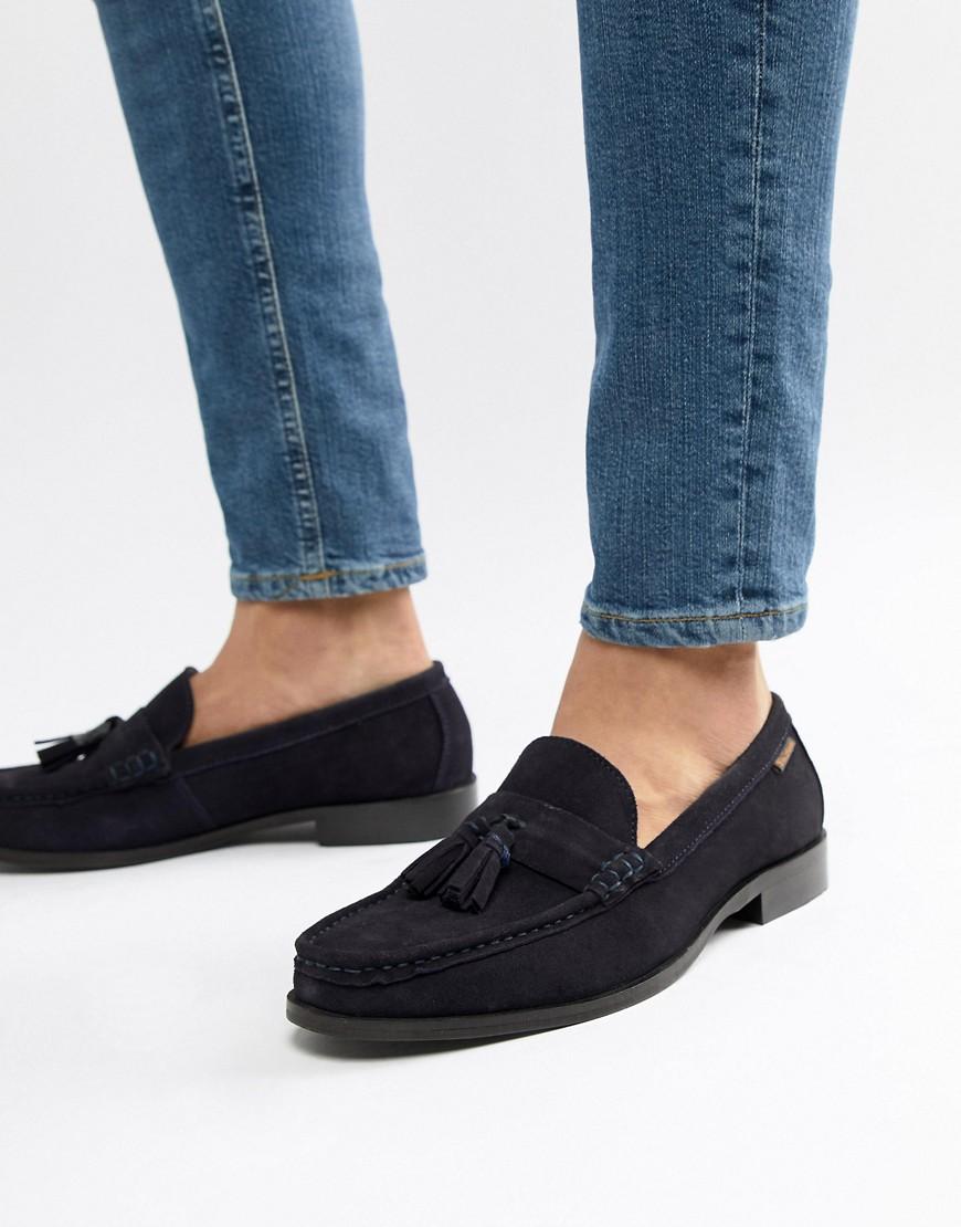 Fashion Shop - Ben Sherman Loafers Tassel Loafers In Navy Suede - Blue