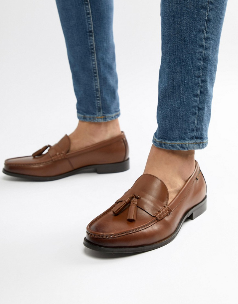 Fashion Shop - Ben Sherman Loco Tassel Loafers In Tan Leather - Tan