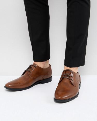 Fashion Shop - Burton Menswear Faux Leather Smart Shoes In Tan - Tan
